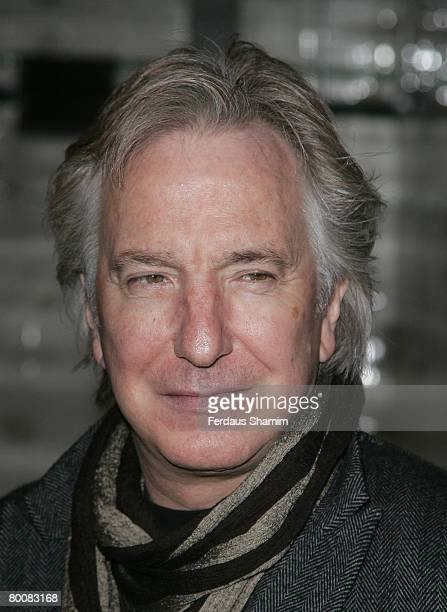 Alan Rickman arrives for the charity performence of Motherland at The Young Vic theatre on 2nd of March 2008 in London England