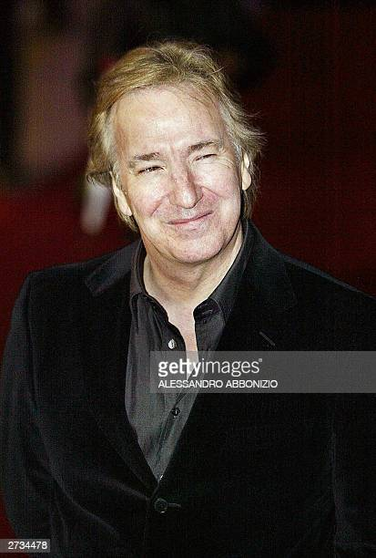 Alan Rickman arrives for the UK premiere of the film 'Love Actually' at the Odeon Cinema Leicester Square in London 16 November 2003 Rickman plays...