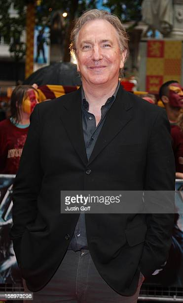 Alan Rickman Arrives For The World Premiere Of Harry Potter And The Half Blood Prince At Empire Leicester Square On July 7 2009 In London
