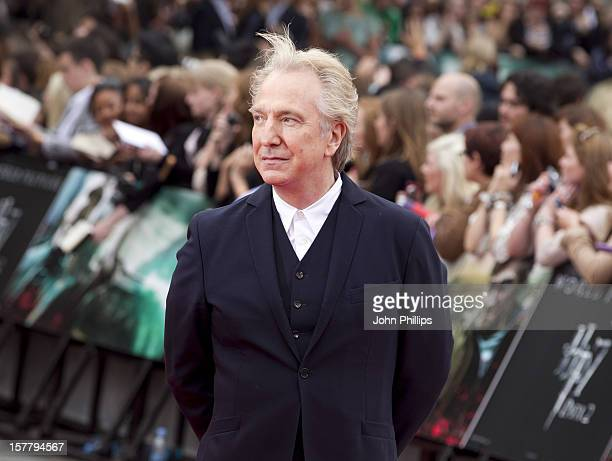 Alan Rickman Arriving At The World Premiere Of Harry Potter And The Deathly Hallows Part 2 In Trafalgar Square In Central London