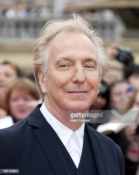 Alan Rickman Arriving For The World Premiere Of Harry Potter And The Deathly Hallows Part 2 In London
