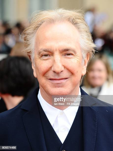 Alan Rickman arriving for the world premiere of Harry Potter And The Deathly Hallows Part 2
