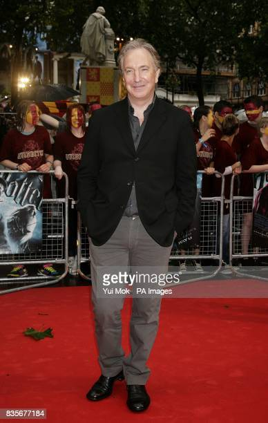 Alan Rickman arriving for the world premiere of Harry Potter and the HalfBlood Prince at the Odeon Leicester Square London