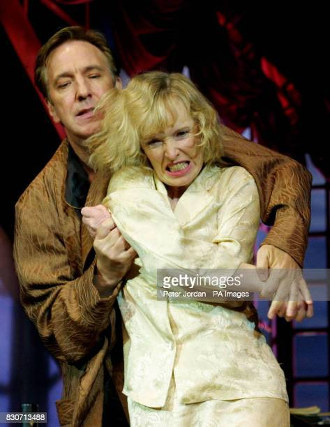 Alan Rickman as'Elyot' and Lindsay Duncan as 'Amanda' at a photo call for Howard Davies's production of Noel Coward's 'Private Lives' which opens for...