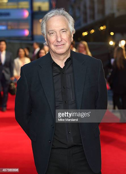 Alan Rickman attends a screening of A Little Chaos during the 58th BFI London Film Festival at Odeon West End on October 17 2014 in London England