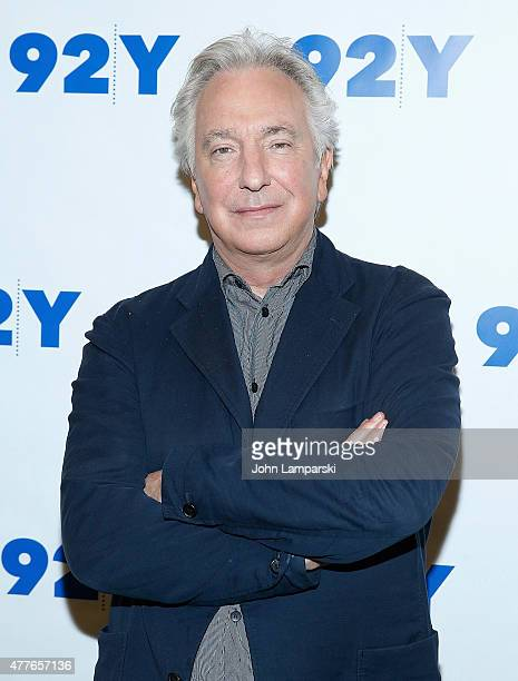 Alan Rickman attends Reel Pieces with Annette Insdorf preview of A Little Chaos at 92nd Street Y on June 18 2015 in New York City