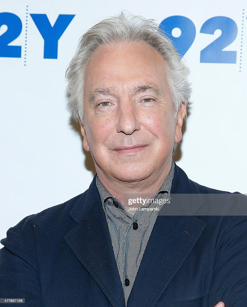 Alan Rickman attends Reel Pieces with Annette Insdorf preview of 'A Little Chaos' at 92nd Street Y on June 18, 2015 in New York City.