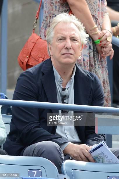 Alan Rickman attends the 2012 US Open at USTA Billie Jean King National Tennis Center on September 3 2012 in New York City