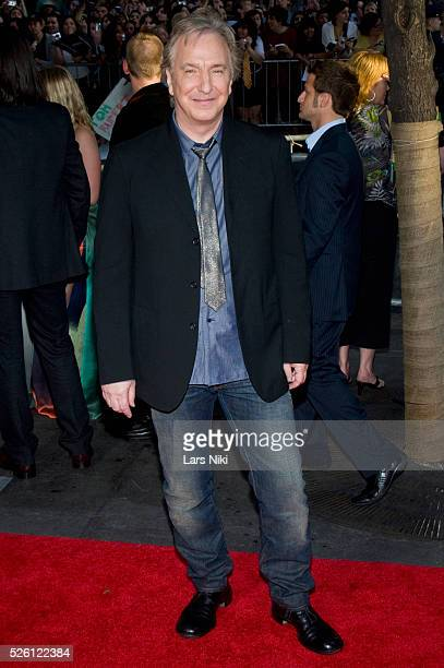 Alan Rickman attends the 'Harry Potter and the HalfBlood Prince Film Premiere' at the Ziegfeld Theatre in New York City