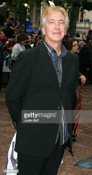 Alan Rickman Attends The 'Harry Potter And The Prisoner Of Azkaban' Uk Film Premiere In London'S Leicetser Square