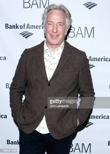 Alan Rickman attends the 'John Gabriel Borkman' after party at the Brooklyn Academy of Music on January 13 2011 in New York City