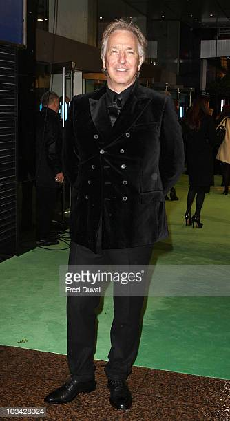 Alan Rickman attends the Royal World Premiere of Tim Burton's 'Alice In Wonderland' at Odeon Leicester Square on February 25 2010 in London England
