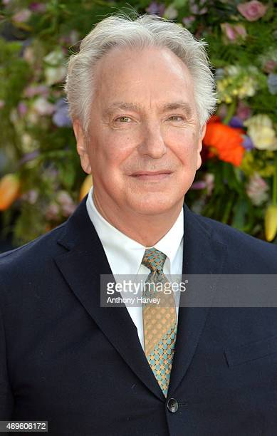 Alan Rickman attends the UK premiere of 'A Little Chaos' at ODEON Kensington on April 13 2015 in London England
