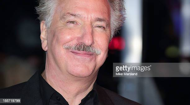Alan Rickman attends the World Premiere of Gambit at Empire Leicester Square on November 7 2012 in London England