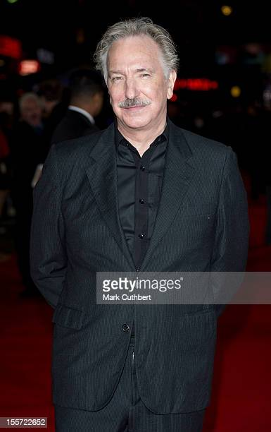 """Alan Rickman attends the World Premiere of """"Gambit"""" at Empire Leicester Square on November 7, 2012 in London, England."""