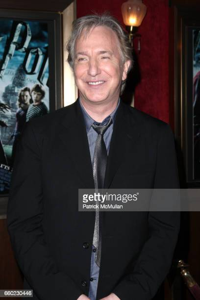 Alan Rickman attends WARNER BROTHERS PICTURES Presents the North American Premiere of HARRY POTTER and the HALFBLOOD PRINCE at Ziegfeld Theatre on...