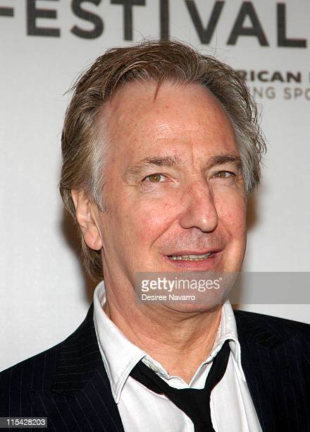 Alan Rickman during 5th Annual Tribeca Film Festival Snow Cake' Premiere at Tribeca Performing Arts in New York City New York United States