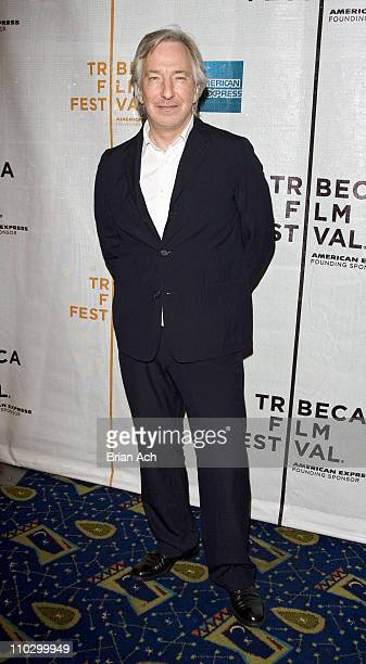 Alan Rickman during 6th Annual Tribeca Film Festival 'Noble Son' World Premiere at Clearview Chelsea West in New York City New York United States