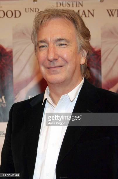 Alan Rickman during Das Parfum Berlin Premiere Arrivals at Sony Center in Berlin Berlin Germany