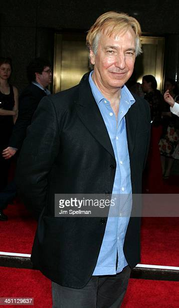 Alan Rickman during Harry Potter and the Prisoner of Azkaban New York Premiere Arrivals at Radio City Music Hall in New York City New York United...