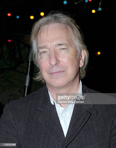 Alan Rickman during Opening Night of 'My Name is Rachel Corrie' After Party at Bowery Bar in New York City New York United States