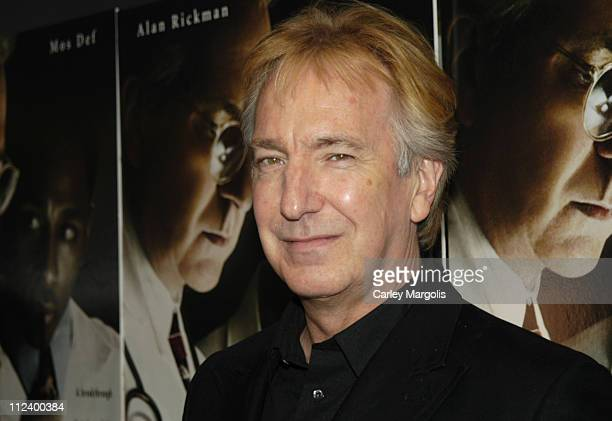 Alan Rickman during 'Something The Lord Made' New York Premiere at Paris Theatre in New York City New York United States