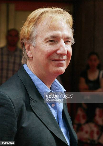 Alan Rickman who plays Professor Severus Snape smiles at the crowd before the premier of Harry Potter Prisoner of Azkaban at Radio City in New York...