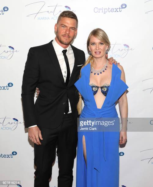 Alan Ritchson and Marina Acton attend the release of Marina Acton's new single Fantasize at Boulevard3 on March 5 2018 in Hollywood California