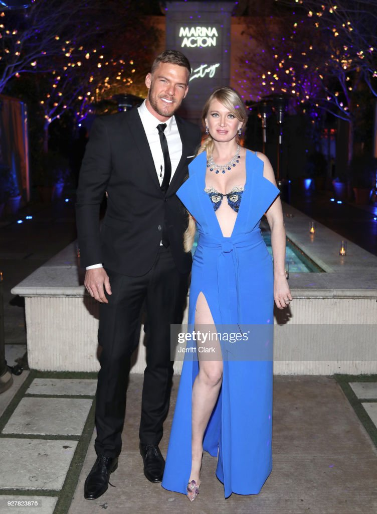 Alan Ritchson and Marina Acton attend The Release Of Marina Acton's New Single 'Fantasize' at Boulevard3 on March 5, 2018 in Hollywood, California.