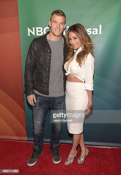 Alan Ritchson and Nicole Scherzinger attend the 2015 NBCUniversal Summer Press Day at the Langham Hotel on April 2 2015 in Pasadena California