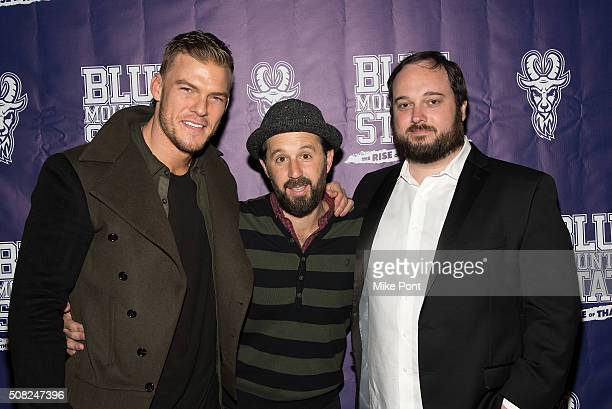 Alan Ritchson Chris 'Romanski' Romano and Eric Falconer attend the 'Blue Mountain State The Rise of Thadland' New York Premeire at Landmark's...