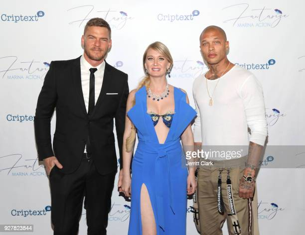 Alan Ritchson Marina Acton and Jeremy Meeks The Release Of Her New Single Fantasize at Boulevard3 on March 5 2018 in Hollywood California