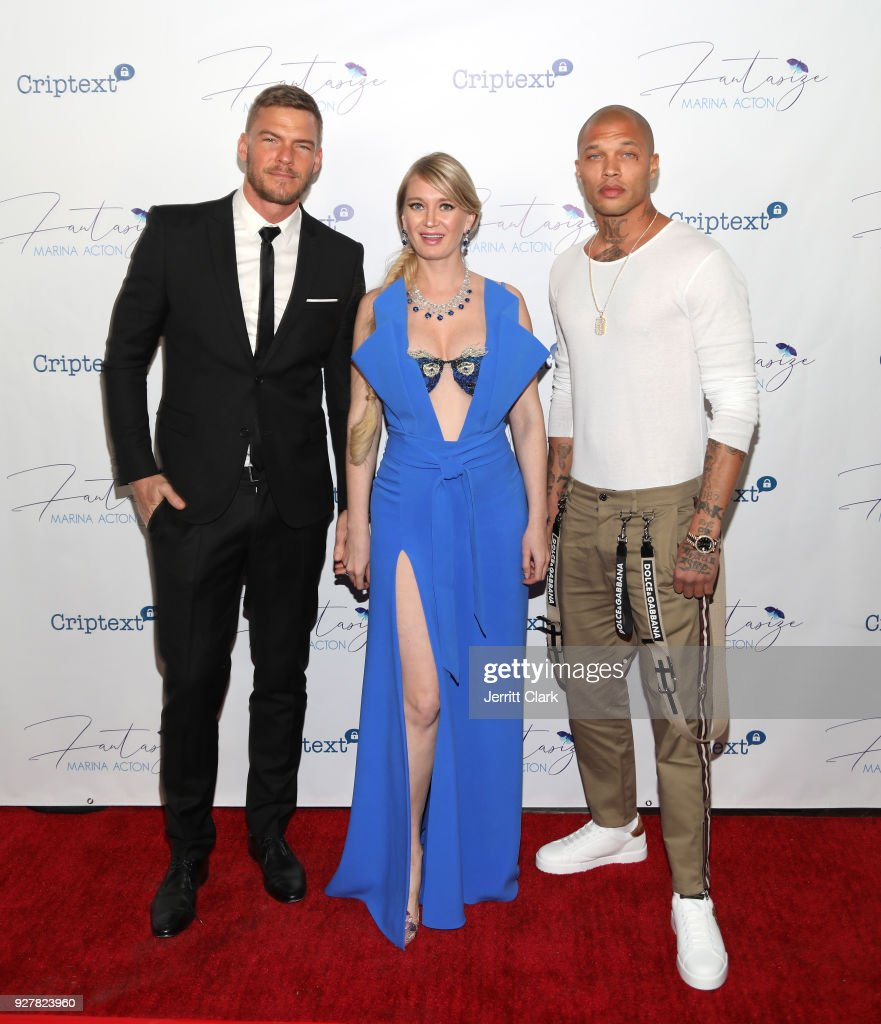 Alan Ritchson, Marina Acton and Jeremy Meeks The Release Of Her New Single 'Fantasize' at Boulevard3 on March 5, 2018 in Hollywood, California.