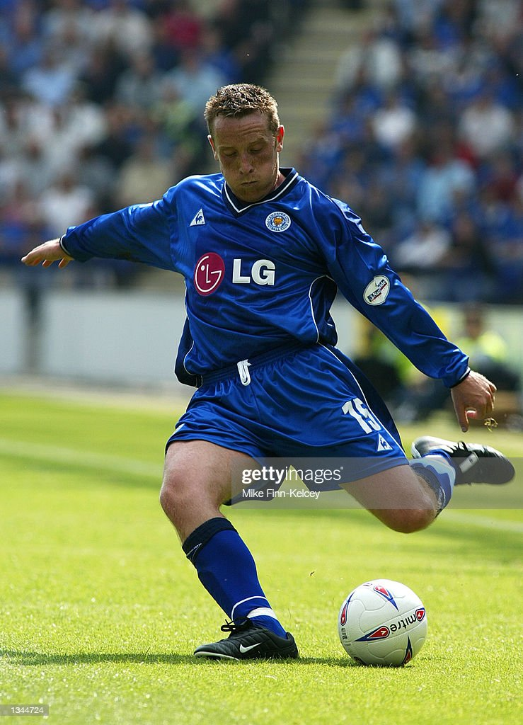 Alan Rogers of Leicester City in action in the Nationwide League Division One match between Leicester City and Watford at the Walkers Stadium in Leicester, England on August 10, 2002. Leicester won 2-0.