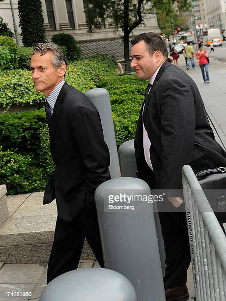 Alan Roseman former chief executive officer of ACA Capital Holdings Inc left arrives at federal court to testify in the US Securities and Exchange...
