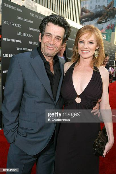Alan Rosenberg and Marg Helgenberger during MGM Distribution Co Mr Brooks Los Angeles Premiere at Grauman's Chinese Theater in Los Angeles California...