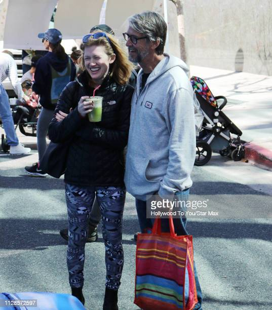 Alan Ruck and Mireille Enos are seen on March 3 2019 in Los Angeles CA