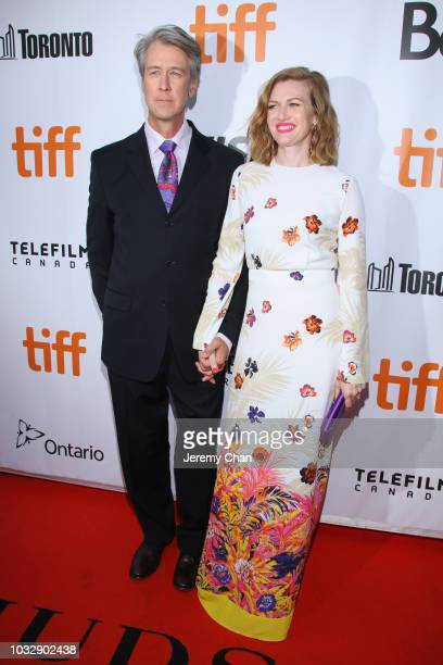Alan Ruck and Mireille Enos attend the The Lie premiere during 2018 Toronto International Film Festival at Roy Thomson Hall on September 13 2018 in...