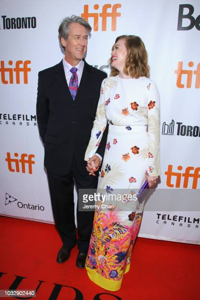 Alan Ruck and Mireille Enos attend the 'The Lie' premiere during 2018 Toronto International Film Festival at Roy Thomson Hall on September 13 2018 in...
