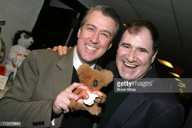 Alan Ruck and Richard Kind of 'The Producers' during Broadway Cares / Equity Fights AIDS Broadway Bears 2005 Auction at BB King Blues Club in New...