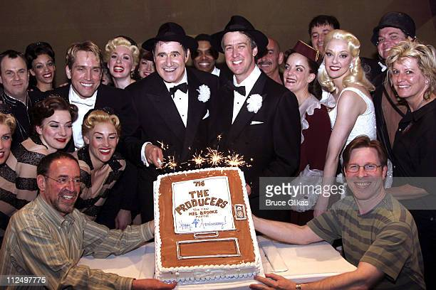 Alan Ruck and Richard Kind with the cast of 'The Producers'