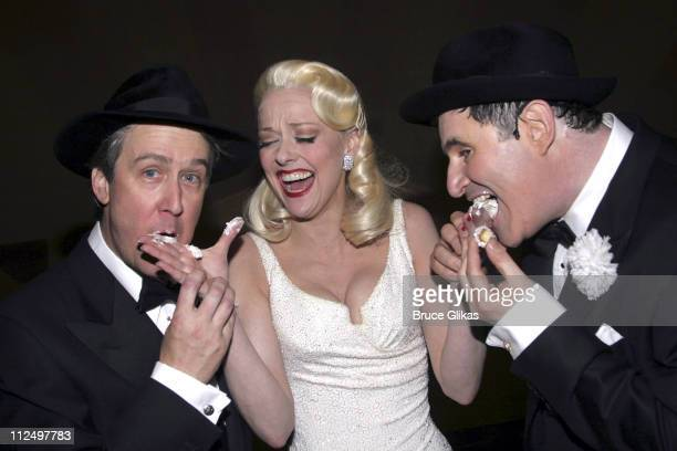 Alan Ruck Angie Schworer and Richard Kind during 'The Producers' Celebrate Their 4th Anniversary on Broadway at St James Theater in New York City New...