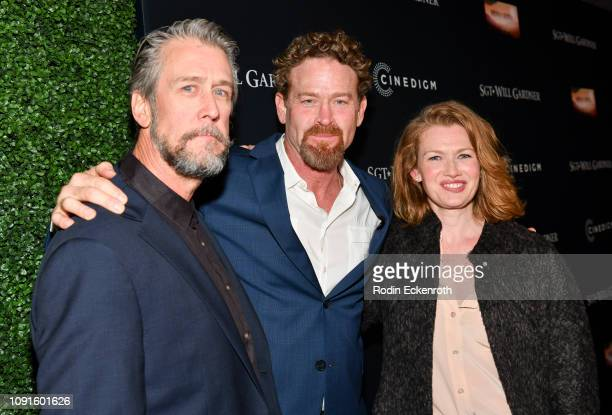 LR Alan Ruck Max Martini and Mireille Enos attend the premiere of Cinedigm Entertainment Group's 'SGT Will Gardner' at ArcLight Hollywood on January...