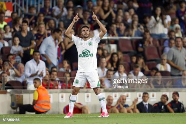 Alan Ruschel of Associacao Chapecoense de Futebol during the Trofeu Joan Gamper match between FC Barcelona and Chapecoense on August 7 2017 at the...