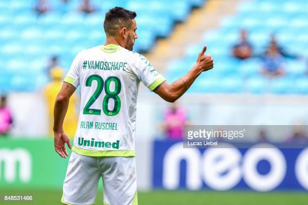 Alan Ruschel of Chapecoense during the match Gremio v Chapecoense as part of Brasileirao Series A 2017 at Arena do Gremio on September 17 in Porto...