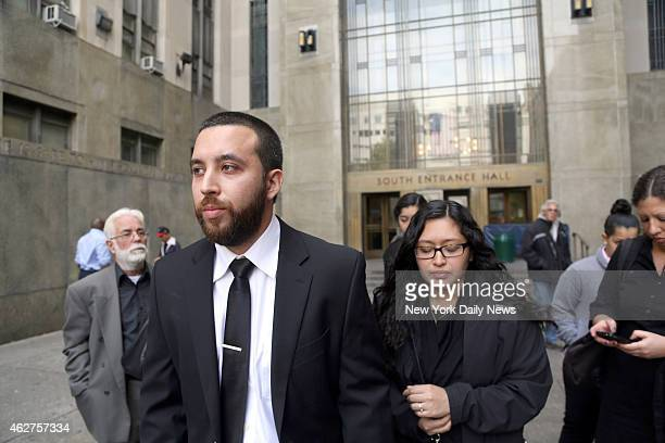 Alan Russo 28 and Sofia Russo the parents of Ariel Russo outside Manhattan Supreme Court Franklin Reyes is charged with allegedly killing fouryearold...