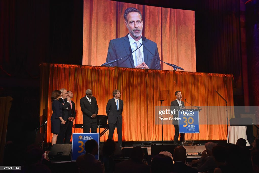 Alan Shapiro, MD accepts the Redlener Award onstage during the Children's Health Fund 2018 Annual Benefit at Cipriani 42nd Street on June 13, 2018 in New York City.