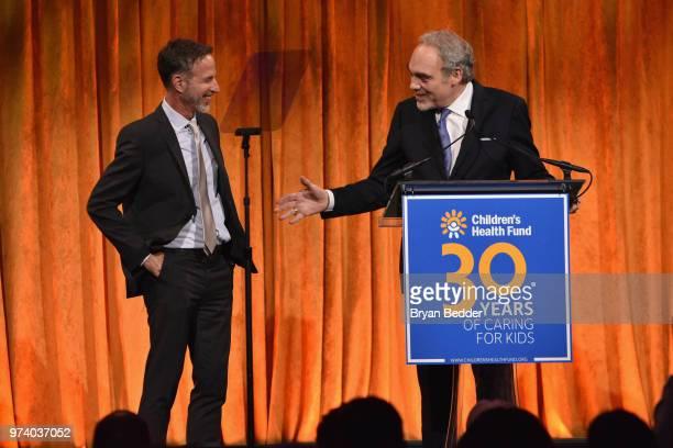 Alan Shapiro MD and President Emeritus CoFounder Children's Health Fund Irwin Redlener MD speak onstage during the Children's Health Fund 2018 Annual...