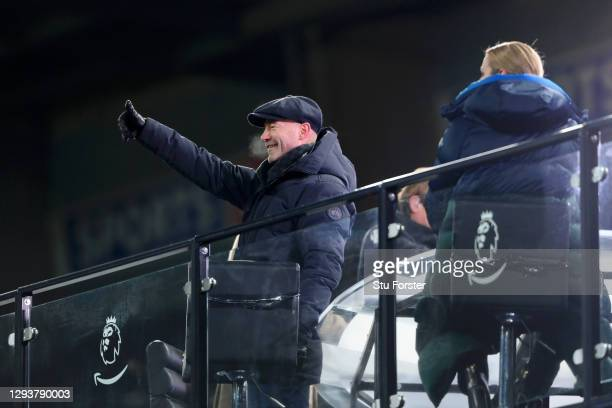 Alan Shearer, Amazon Primer TV Pundit and former player and manager of Newcastle United reacts during the Premier League match between Newcastle...
