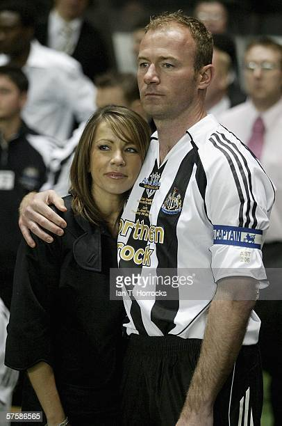 Alan Shearer and his wife Lainya after the Alan Shearer Testimonial Match between Newcastle United v Glasgow Celtic at St James' Park on May 11 2006...